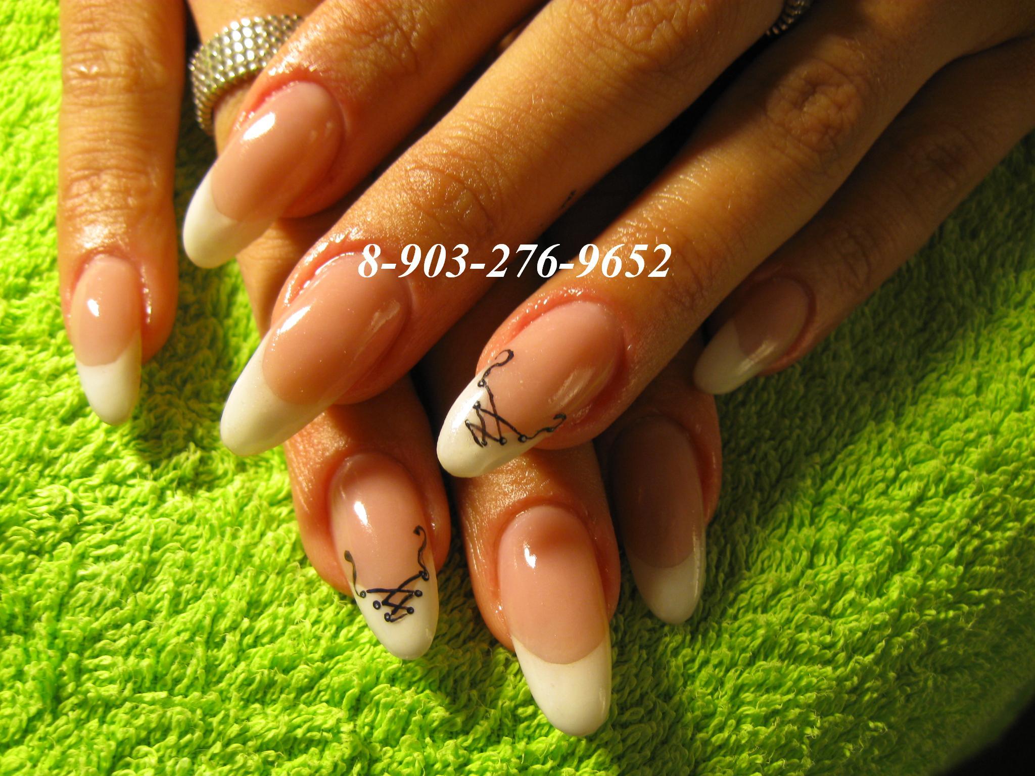 Дизайн ногтей на широкую пластину с